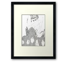 Tangled Hair-Graphite Drawing Framed Print
