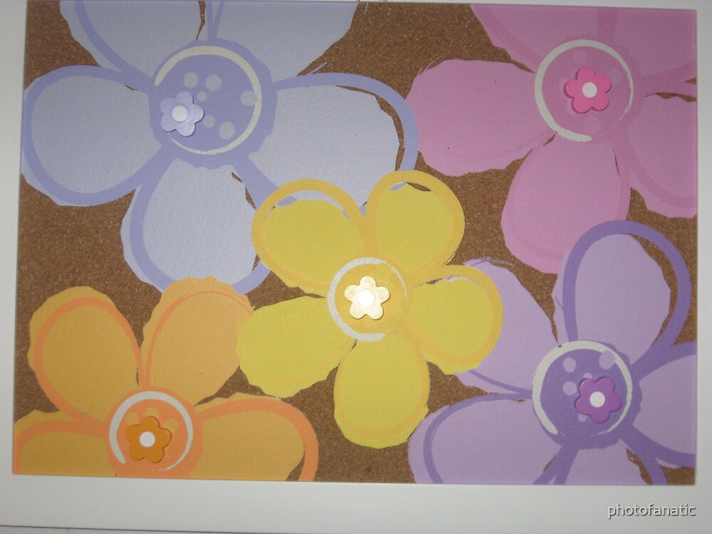 flower design on bulletin board by photofanatic