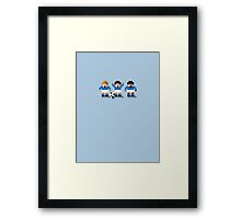 Sensi Tee - Blues, Toffees and Foxes Framed Print