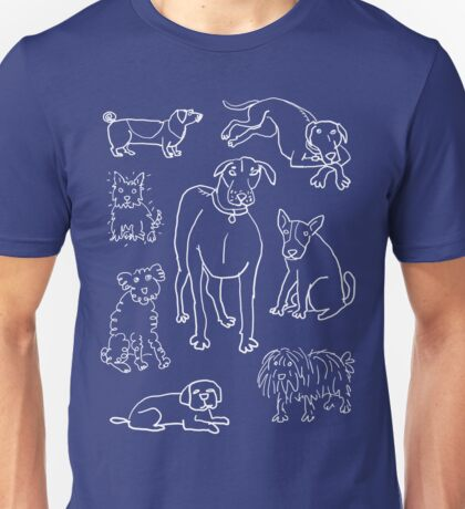 several friendly dogs Unisex T-Shirt