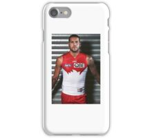 Buddy Franklin in Red and White iPhone Case/Skin