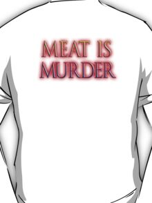 Meat is Murder, Vegetarianism, Vegetarian, Vegan, T-Shirt