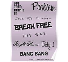 Ariana Grande - Singles Discography 2011-2014 Poster