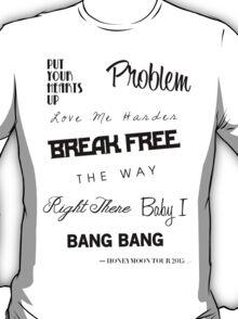 Ariana Grande - Singles Discography 2011-2014 T-Shirt