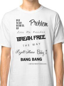 Ariana Grande - Singles Discography 2011-2014 Classic T-Shirt