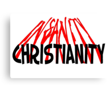 CHRISTIANITY / INSANITY (Light background) Canvas Print
