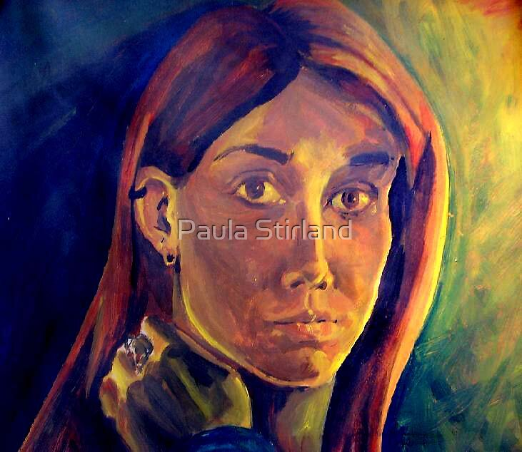 Acrylic Self Portrait by Paula Stirland