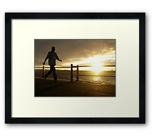 Stride to the Sun Framed Print