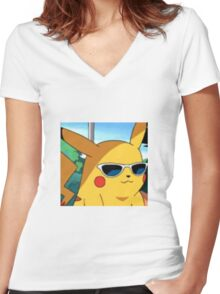 Cool Pika Women's Fitted V-Neck T-Shirt