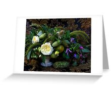 Still life with flowers and vegetables Greeting Card