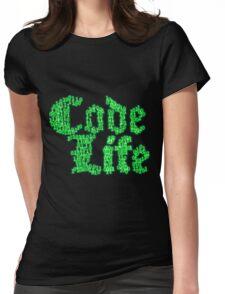 binaryCodeLifev1.0 Womens Fitted T-Shirt