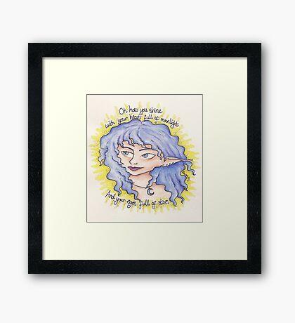 Oh how you shine! Pixie Framed Print