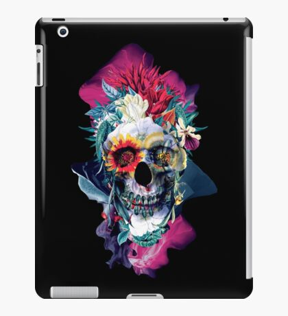 Floral Skull Blue iPad Case/Skin