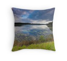 Stormy Dawn - Ewen Maddock Dam Throw Pillow