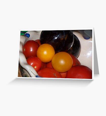 Fruit and Veggies (Still Life) Greeting Card