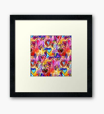 Spring Hearts  Framed Print