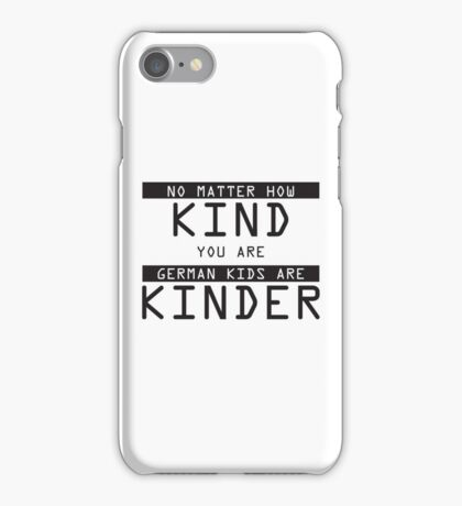 Funny German Kids Sticker iPhone Case/Skin