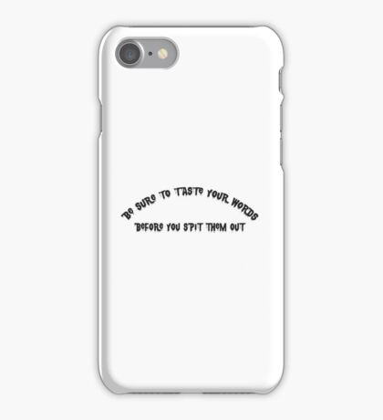Cool Modern Simple Text Design iPhone Case/Skin