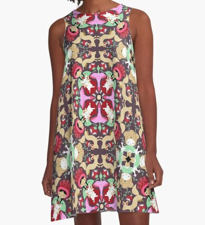 Mandala whimsical spirits A-Line Dress
