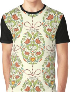 pattern with floral easter eggs Graphic T-Shirt