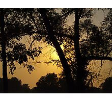 Sunset at Lake Erie Photographic Print