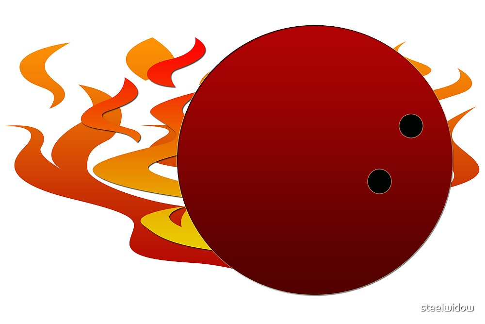Flaming Bowling Ball by steelwidow