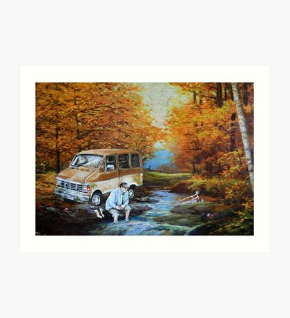 Living in a Van Down by the River Art Print