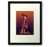 Happy Halloween -  Witch Framed Print