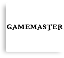 Gamemaster Tabletop RPG Canvas Print