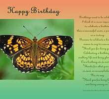 Happy Birthday Greeting Card by Bonnie T.  Barry