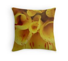 Yellow Macro Throw Pillow