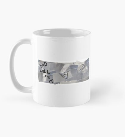 Duct Tape Coffee Mug - Dad Will Fix It - Best Funny Birthday, Father's Day Gift for Dad, Grandpa, Grandfather, Uncle Mug