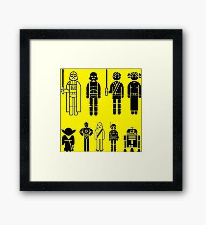 Mini Star Wars Framed Print
