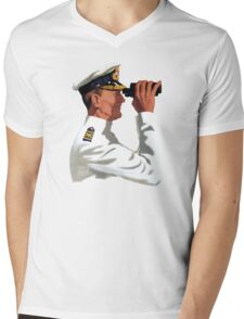 Sea Captain Mens V-Neck T-Shirt