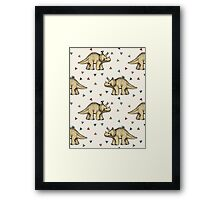 Triceratops & Triangles Framed Print