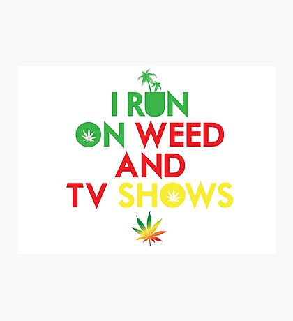 Cool Stoner Smoke Weed Chill T-Shirts Photographic Print