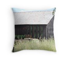 Tobacco Barn Throw Pillow