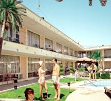 Caribbean Motel Wildwood New Jersey Retro 1960's Photographs Sticker