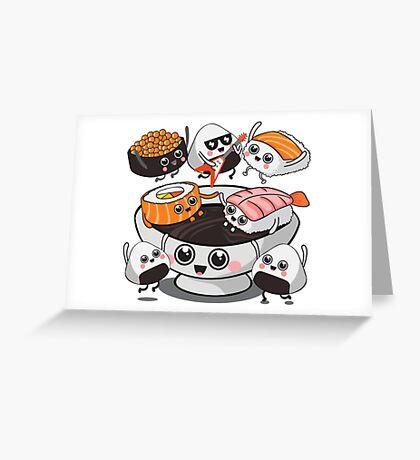 Sushi Rock!!! Greeting Card
