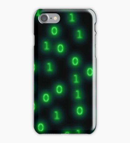 neonBinaryv1.0 iPhone Case/Skin