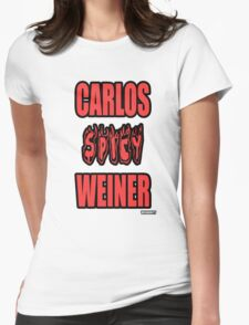 Carlos Spicy Weiner Womens Fitted T-Shirt