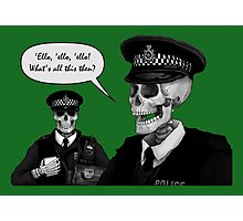 Skeleton Police (Green) Photographic Print