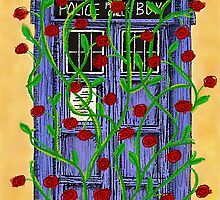 Tardis with Roses by Sierra Nicholson