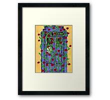 Tardis with Roses Framed Print