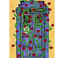 Tardis with Roses Photographic Print