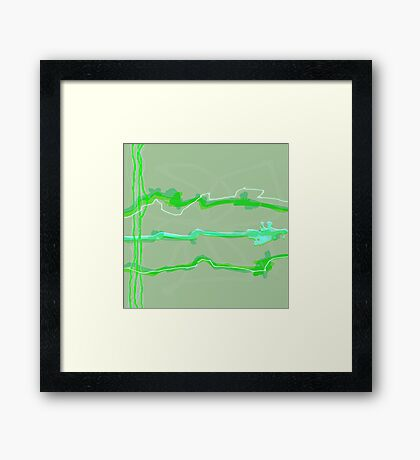 20170227 Green Green No. 6 Framed Print
