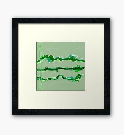 20170227 Green Green No. 8 Framed Print