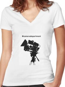 Camera Department Women's Fitted V-Neck T-Shirt