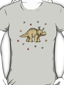Triceratops & Triangles T-Shirt