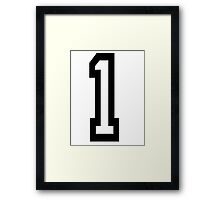 TEAM SPORTS, NUMBER 1, FIRST, ONE, Numero Uno, Competition Framed Print